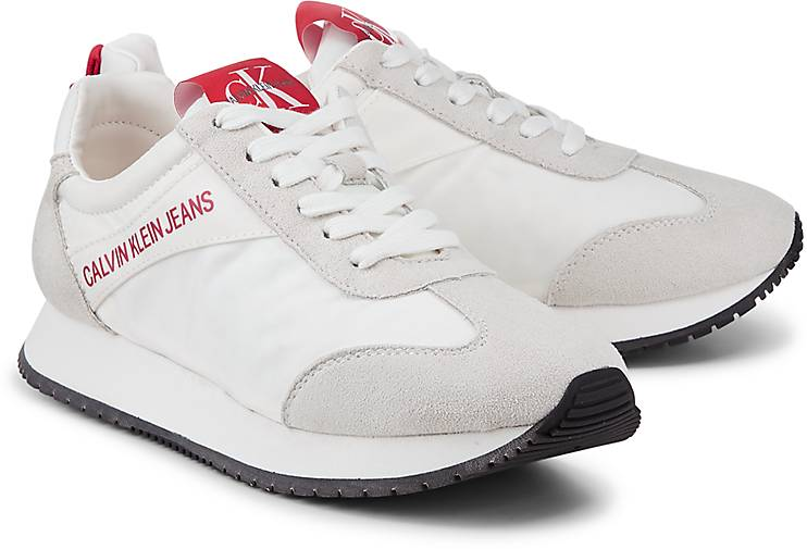 Sneakers CALVIN KLEIN Schwarz Synthetik Herren Schuhe Calvin