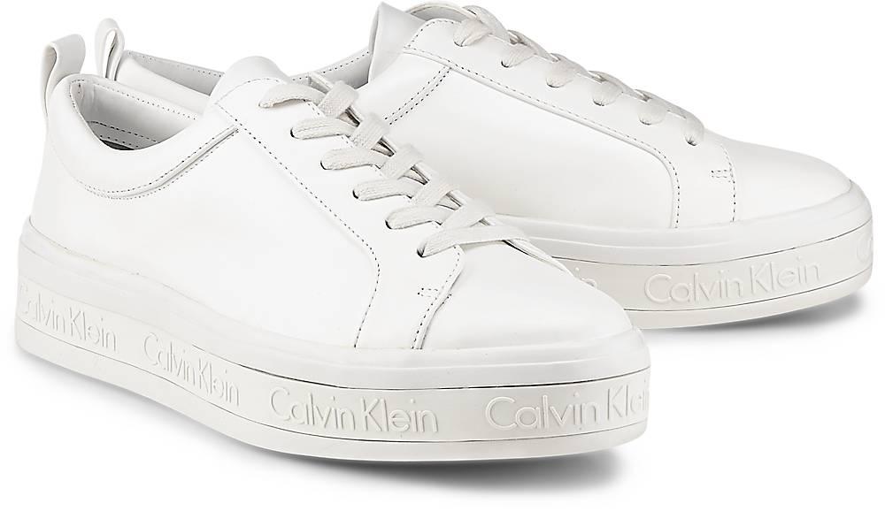 Calvin Klein, Snekaer Jaelee in weiß, Schnürschuhe für Damen Gr. 37