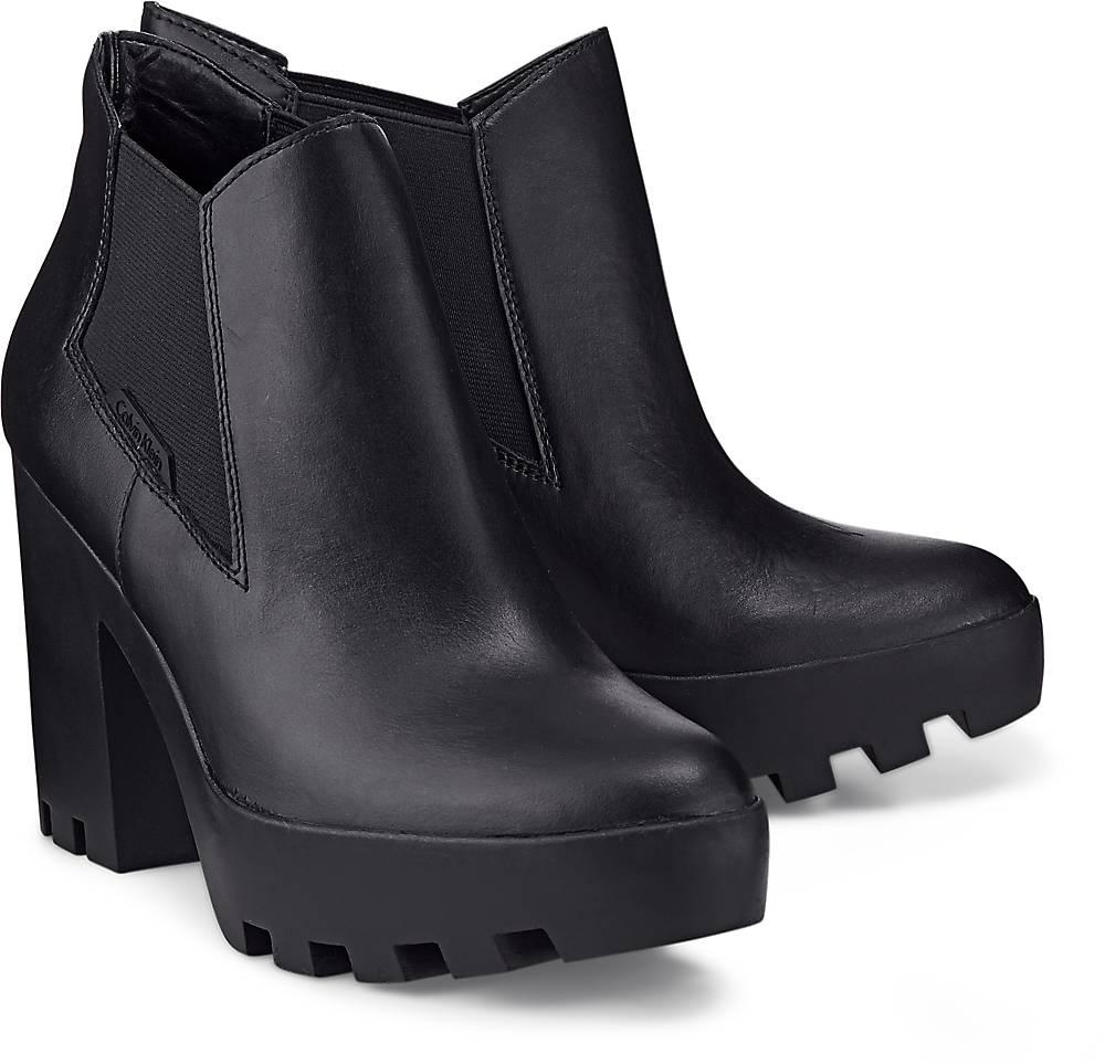 Calvin Klein, Stiefelette Sandy in schwarz, Stiefeletten für Damen Gr. 37