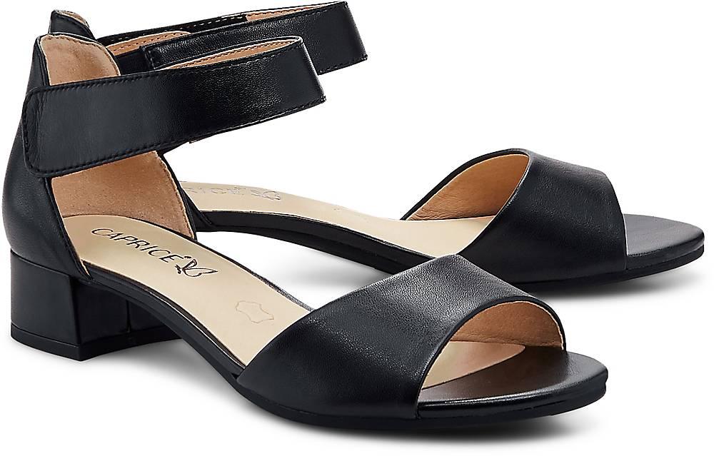 Sandalette Carla von Caprice in schwarz für Damen. Gr. 36 2/3,37 1/3,38,38 2/3,39 1/3,40,4 Preisvergleich