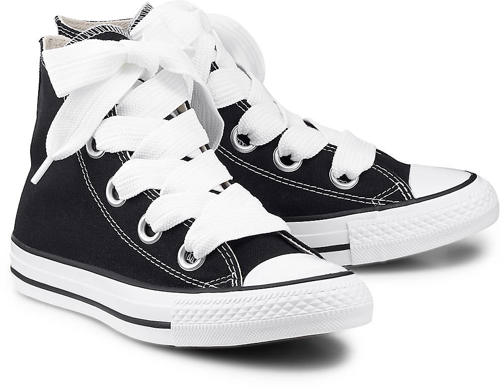Converse, Ctas Big Eyelets – Hi in schwarz, Sneaker für Damen Gr. 36