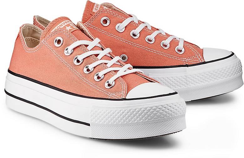Converse – Sneaker 'CTAS Lift OX' aus Canvas – Apricot