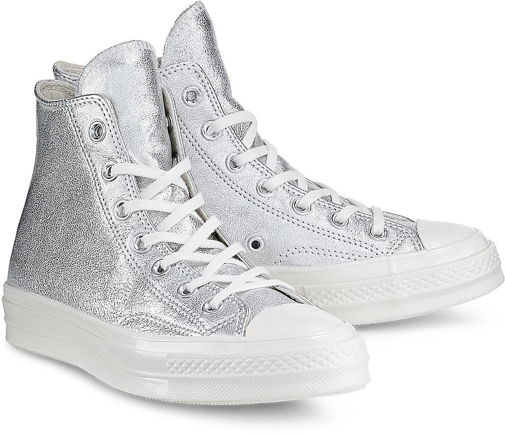Sneaker Ctas 70 Hi von Converse in silber für Damen. Gr. 36,36.5,37,37.5,38,39,39.5,40,41, Preisvergleich
