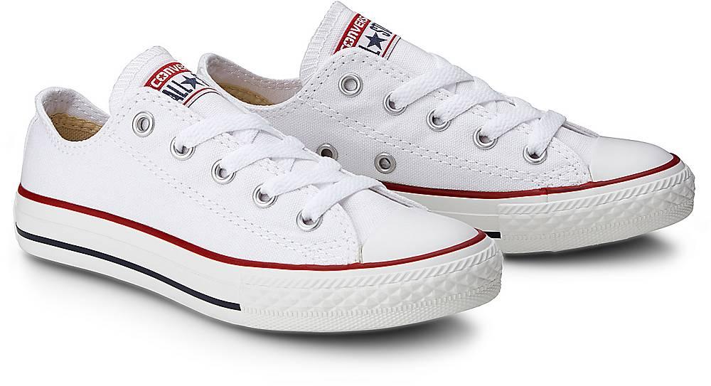 Sneaker Ctas Ox Kids von Converse in weiß für Mädchen. Gr. 27,28,29,30,31,32,33,34,35 Preisvergleich