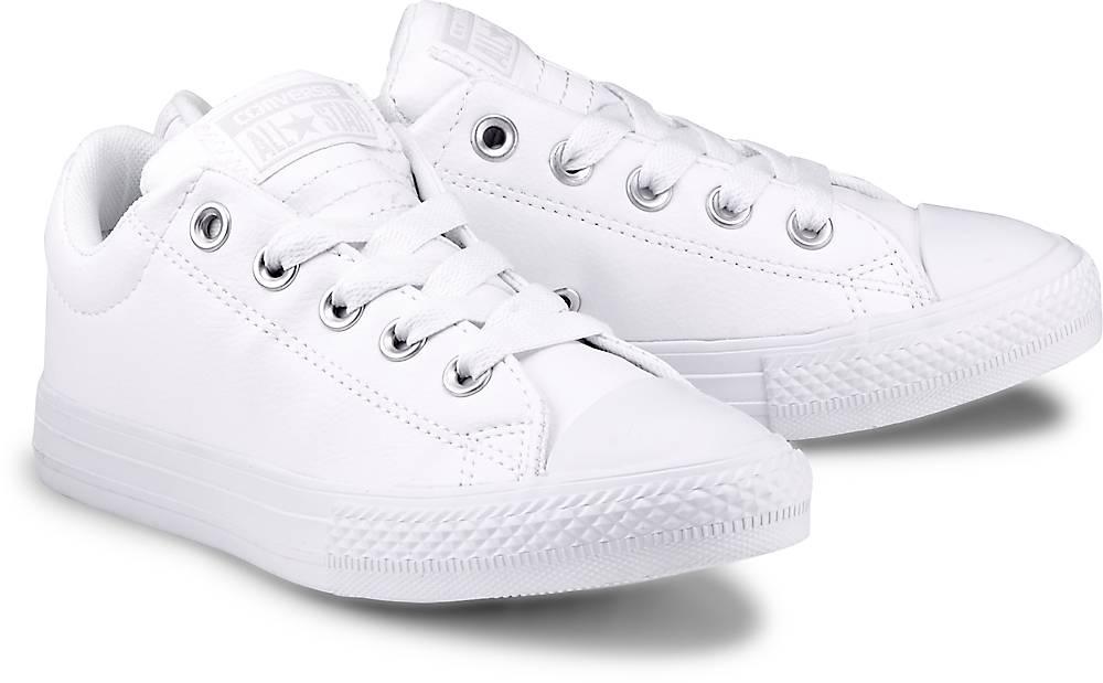Sneaker Ctas Street von Converse in weiß für Mädchen. Gr. 33,34,35,36,38,38.5 Preisvergleich