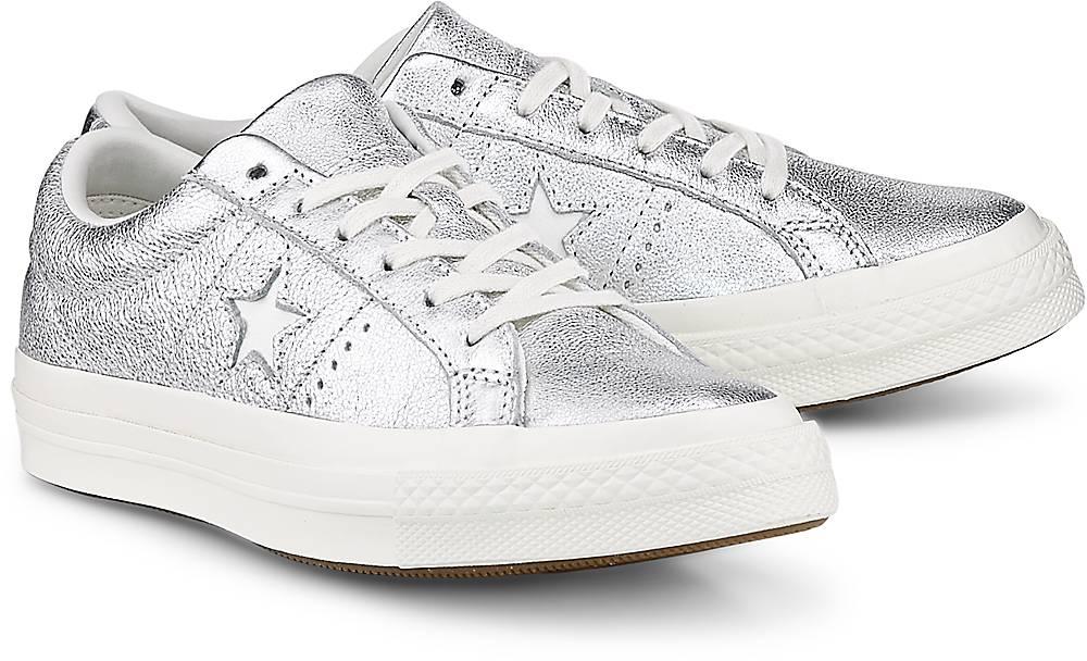 Sneaker One Star ? Ox von Converse in silber für Damen. Gr. 36,37,37.5,38,39,39.5,40 Preisvergleich