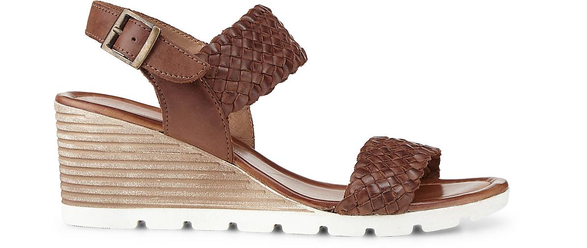 Cox Cox Cox Flecht-Sandalette in braun-dunkel kaufen - 46046001 | GÖRTZ Gute Qualität beliebte Schuhe 6bdab9