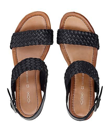 Cox kaufen Flecht-Sandalette in schwarz kaufen Cox - 46046002 | GÖRTZ 036e57