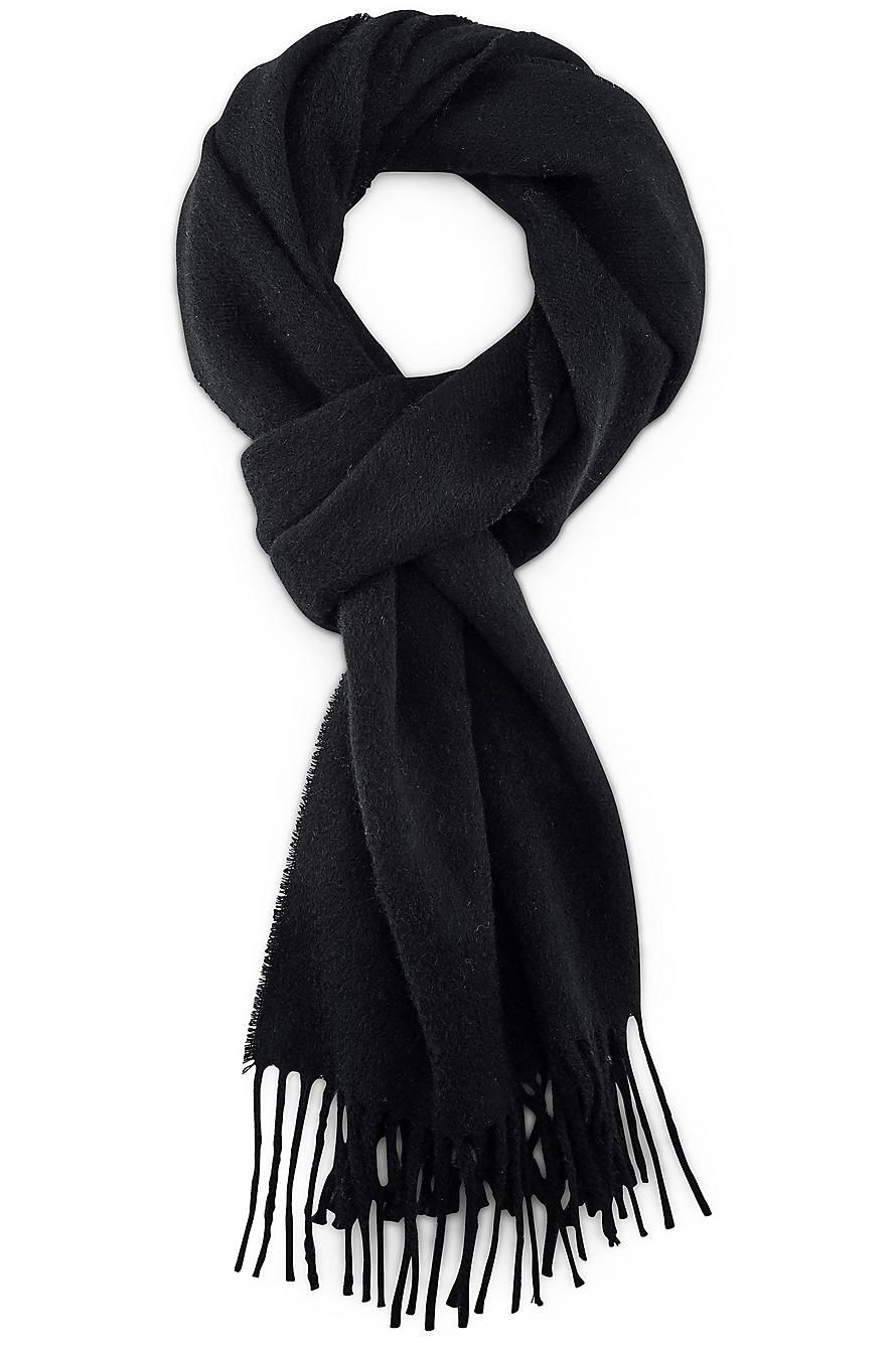 Fransen Schal von Cox in schwarz für Herren. Gr. 1