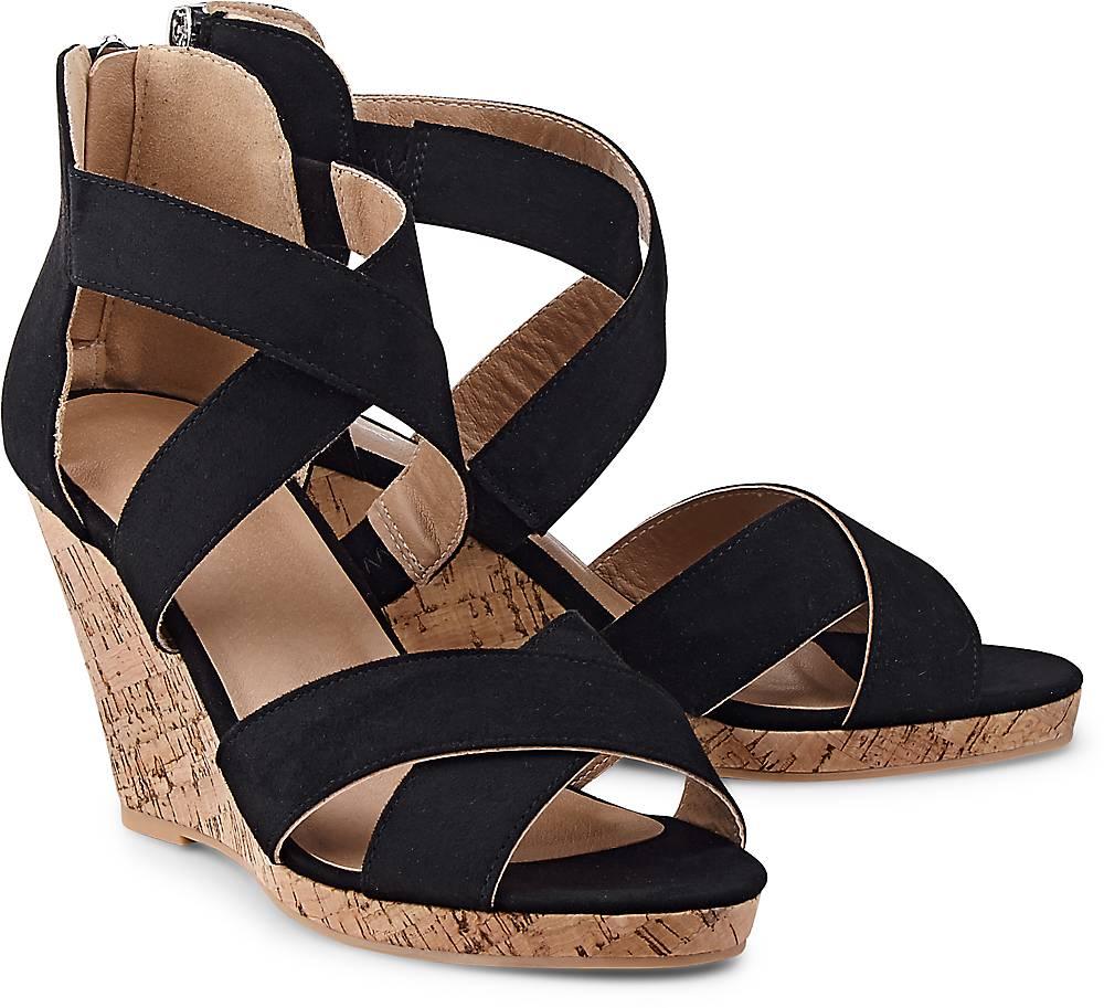 Keil-Sandalette von Cox in schwarz für Damen. Gr. 36,37,38,39,40,41 Preisvergleich