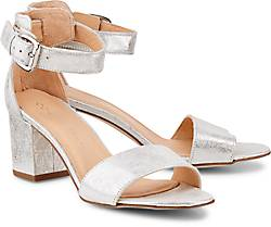 Schuhe mit Blockabsatz. Cox Metallic-Sandalette abddf3dcd4