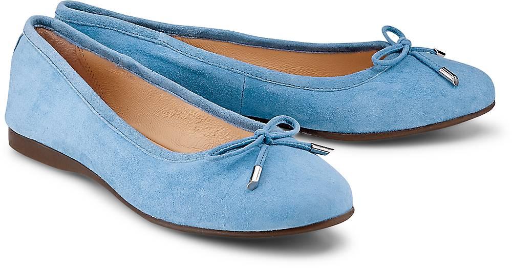 Nubuk-Ballerina von Cox in blau für Damen. Gr. 37,38,39,40,41 Preisvergleich