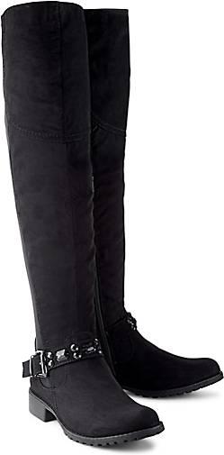 Versandrabatt Authentisch Cox Overknee-Stiefel schwarz Damen Billig Verkauf 2018 Neue Großhandel Online 9In54GCr