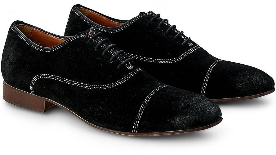 Oxford Schnürschuh von Cox in schwarz für Herren. Gr. 40,41,42,43,44