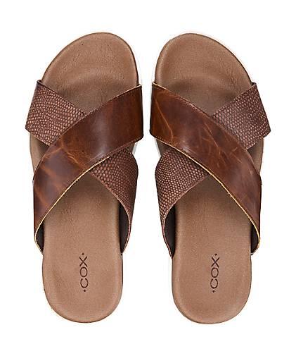 Cox Pantolette in braun-mittel kaufen - 46639101 | Schuhe GÖRTZ Gute Qualität beliebte Schuhe | ade005