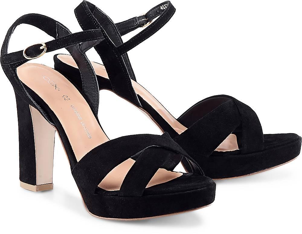 Plateau-Sandalette von Cox in schwarz für Damen. Gr. 36,37,38,39,40,41 Preisvergleich