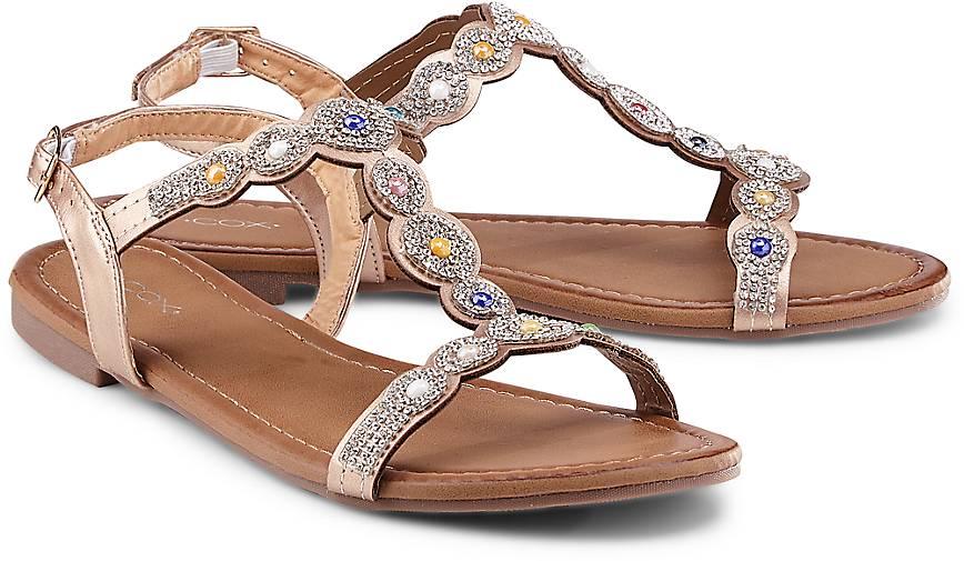 Damen Sommer-Sandale Gold Bronze Leder 40 Cox Günstig Kaufen Original-Verkauf Online Exklusiv Perfekt Kg6E3mE
