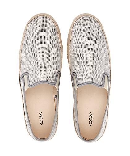 Cox Trend-Espadrille in grau-hell Gute kaufen - 46292005 GÖRTZ Gute grau-hell Qualität beliebte Schuhe 032720