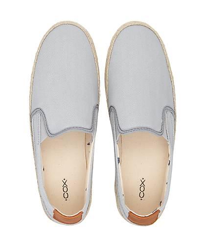 Cox Trend-Espadrille in grau-hell kaufen kaufen kaufen - 47358602 GÖRTZ Gute Qualität beliebte Schuhe 1d644b