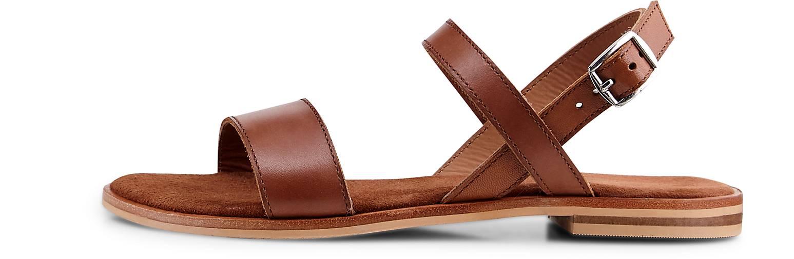 Cox Damen Trend-Sandale Braun Leder 40
