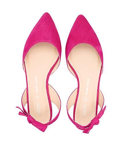 Cox Cox Cox Velours-Ballerina in Rosa kaufen - 47402401 GÖRTZ Gute Qualität beliebte Schuhe 06f5f0