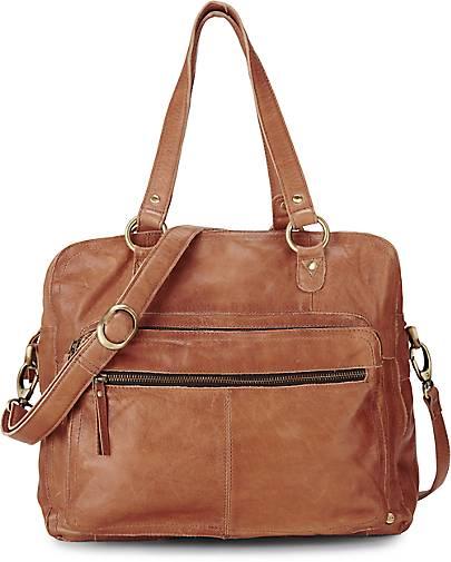 Vintage-Tasche in braun, Schultertaschen für Damen Gr. 1 Cox