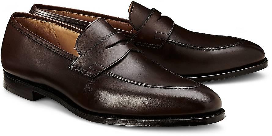 crockett jones penny loafer sydney slipper braun dunkel g rtz. Black Bedroom Furniture Sets. Home Design Ideas