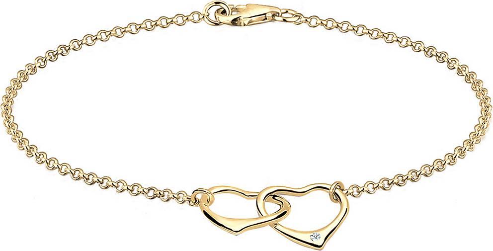 DIAMORE Armband Herz Anhänger Liebe Diamant (0.015 ct.) 925 Silber