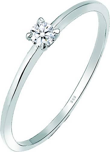DIAMORE Ring Solitär Verlobung Diamant (0.06 ct.) 585 Weißgold