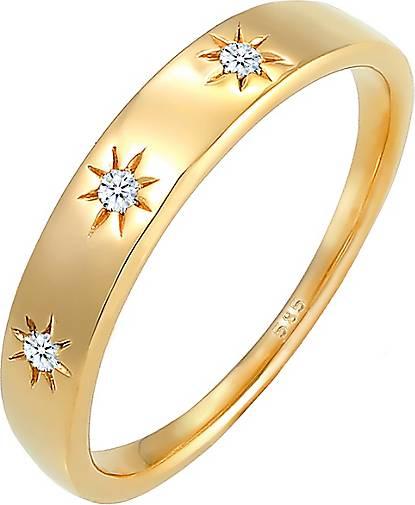 DIAMORE Ring Verlobung Stern Diamant (0.045ct.) 585 Gelbgold