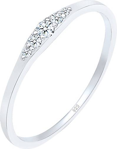 DIAMORE Ring Verlobungsring Diamant (0.07 ct) Bridal 925 Silber