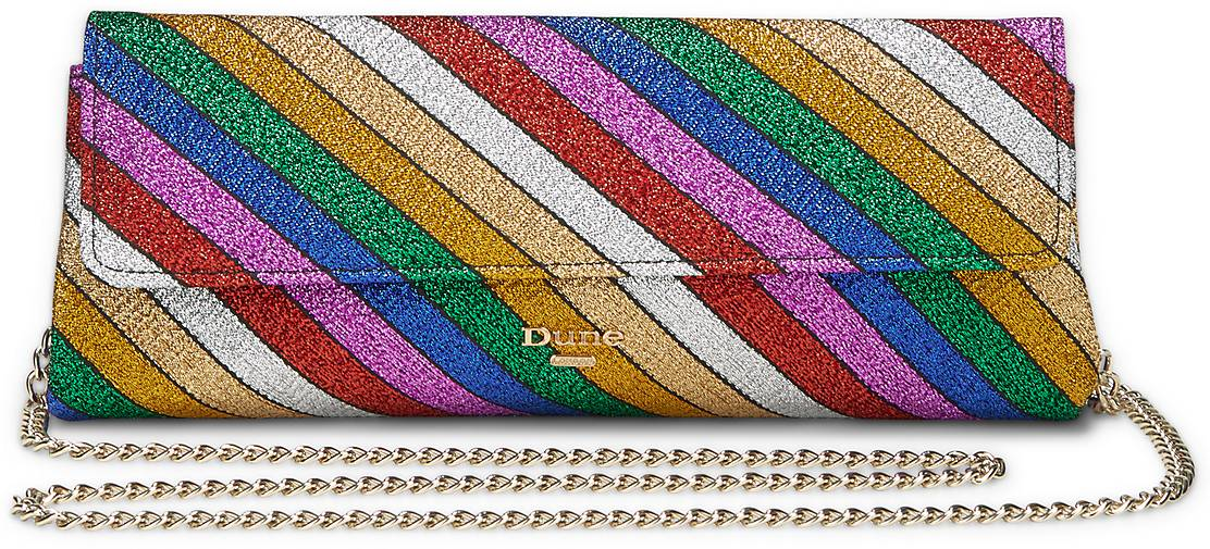 DUNE LONDON Bainbow Stripe Clutch