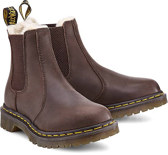 dr martens stiefelette leonore winter boots braun. Black Bedroom Furniture Sets. Home Design Ideas
