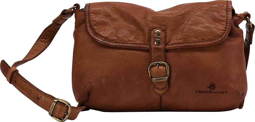 DreiMaster Vintage Lederhandtasche