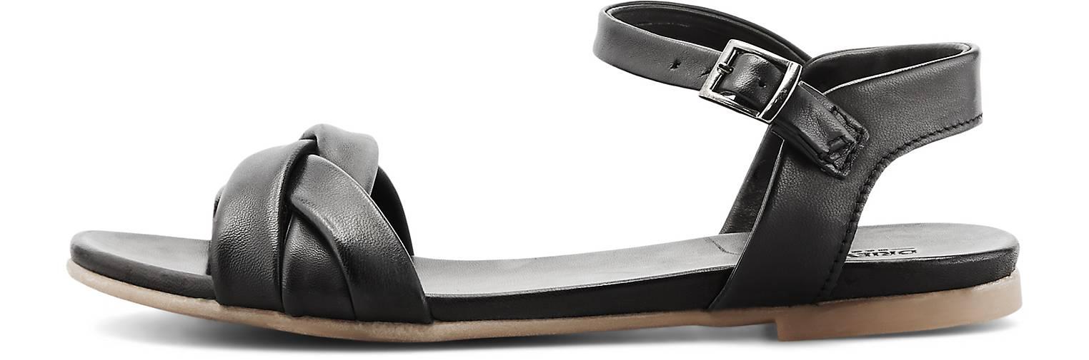 Leder Sandalen in Schwarz