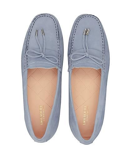 Drievholt Velours-Mokassin in | blau-hell kaufen - 47236901 | in GÖRTZ Gute Qualität beliebte Schuhe dead08