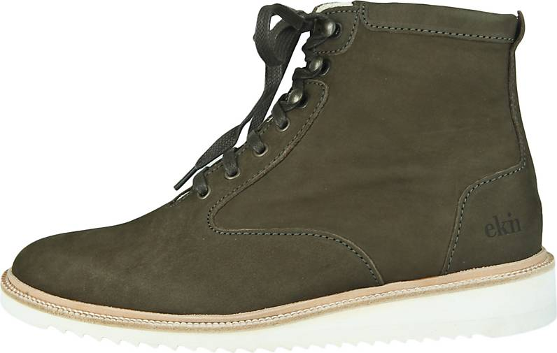 EKN Footwear Keilsneaker Desert High Ripple Olive Nubuck