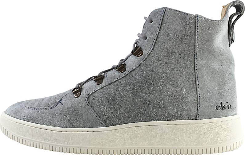 EKN Footwear Sneaker Argan High Sutri Grey Suede
