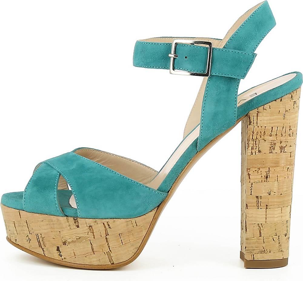 EVITA, Damen Sandalette Lana in blau, Abendschuhe für Damen