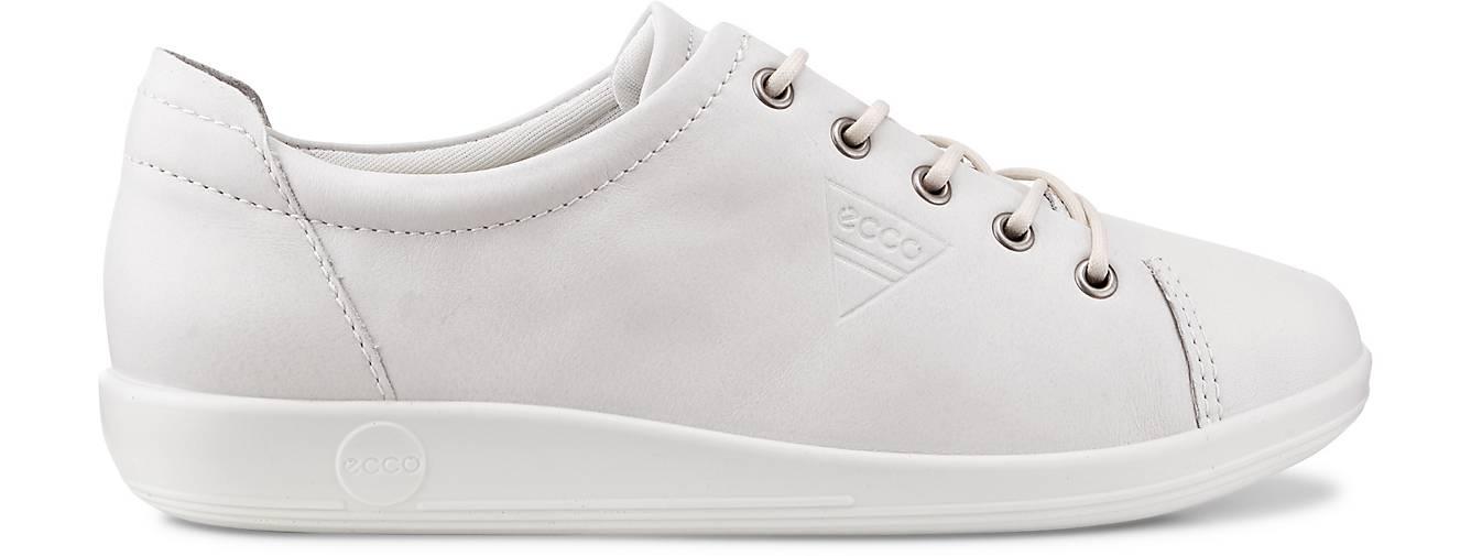 Ecco Schuhe Schnürschuhe Sneaker Soft 2.0 weiß white Leder Einlagen Gr. 37   eBay