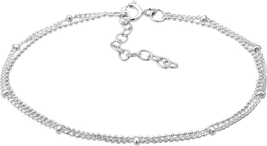 Elli Armband Basic Kettchen Trend Geo Layer Kugeln 925 Silber