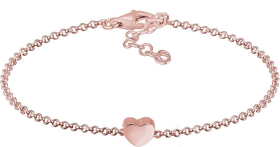 Elli Armband Basic Trend Erbskette Herz Love Liebe 925 Silber