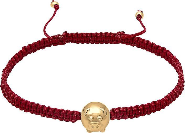 Elli Armband Chinese Year of the Pig Nylon Band 925er Silber