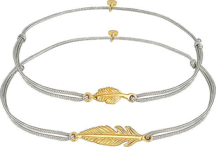 Elli Armband Elli Armband Feder Mutter Kind Set Nylon 925 Silber vergoldet