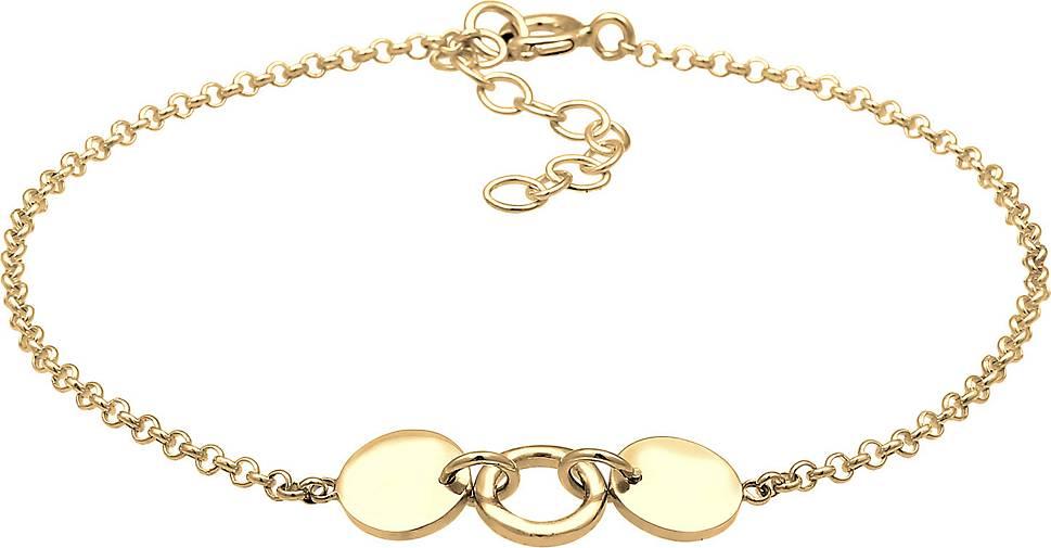 Elli Armband Erbskette Kreis Plättchen Geo Design 925 Silber