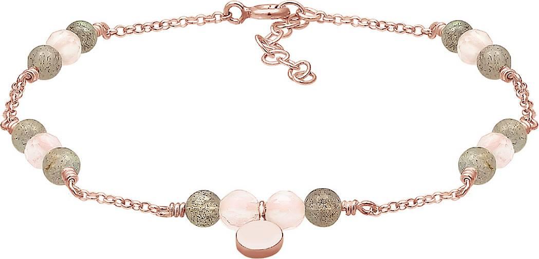 Elli Armband Erbskette Labradorit Quartz Kugel Bead 925 Silber