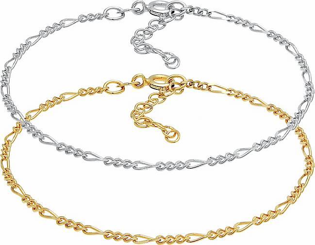 Elli Armband Figaro Basic Bicolor 2er Set 925 Sterling Silber