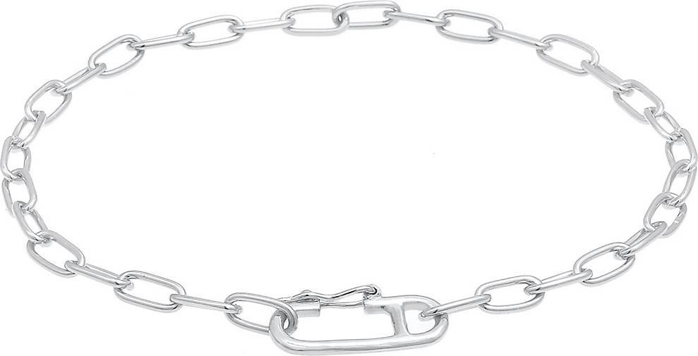 Elli Armband Gliederkette Oval Verstellbar Trend 925 Silber