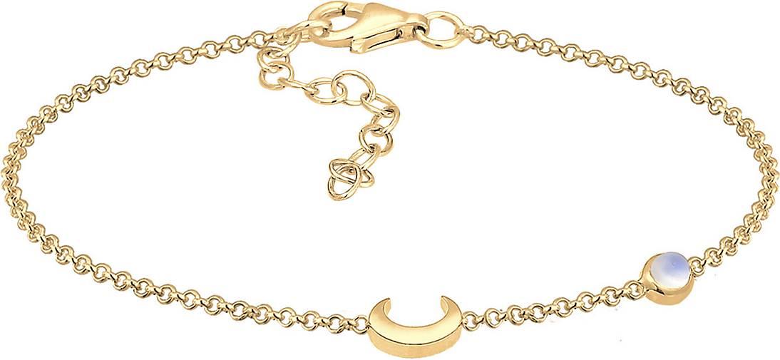 Elli Armband Halbmond Astro Mondstein 925 Sterling Silber