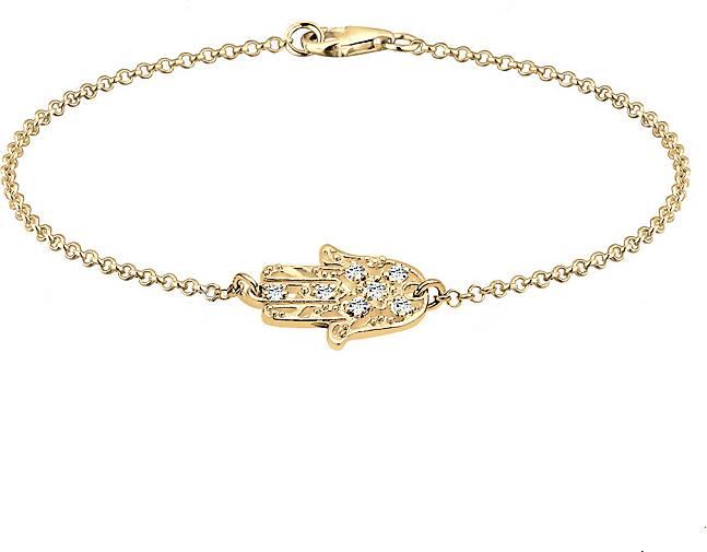 Elli Armband Hamsa Hand Kristalle 925 Silber